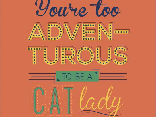 Expedia Print Ad - Cat lady