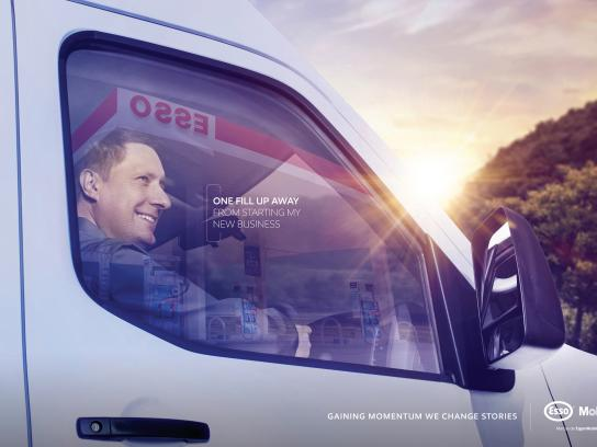 Esso Print Ad - One fill up away, 2