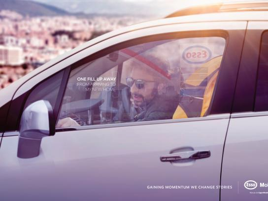 Esso Print Ad - One fill up away, 1