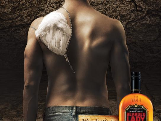 Bearded Lady Bourbon Print Ad -  Wing