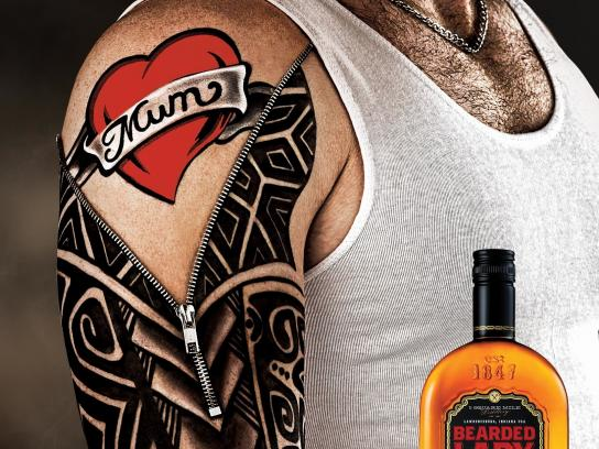 Bearded Lady Bourbon Print Ad -  Tattoo