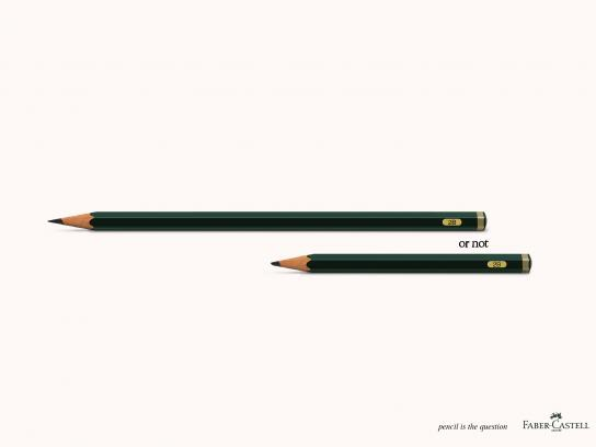 Faber-Castell Outdoor Ad - To be or not to be