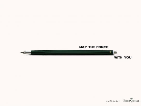 Faber-Castell Outdoor Ad - May the force
