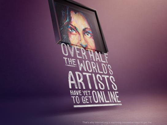 Facebook Print Ad - internet.org - Artists, Painting
