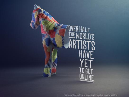 Facebook Print Ad - internet.org - Artists, Taka horse