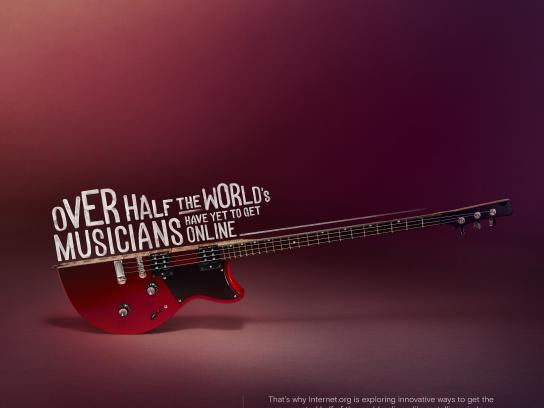 Facebook Print Ad - internet.org - Musicians, Electric guitar
