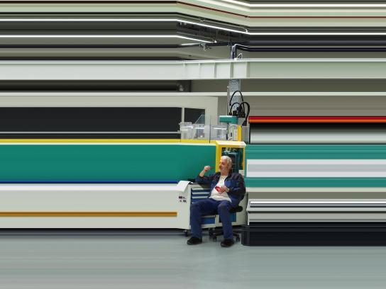 Kit Kat Print Ad - Break the Speed, Factory