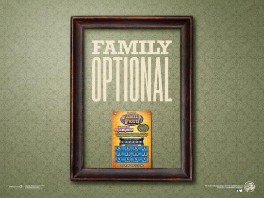 New York Lottery Print Ad -  Family Optional