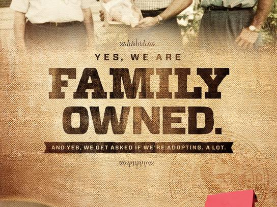 Community Coffee Print Ad -  Family Owned
