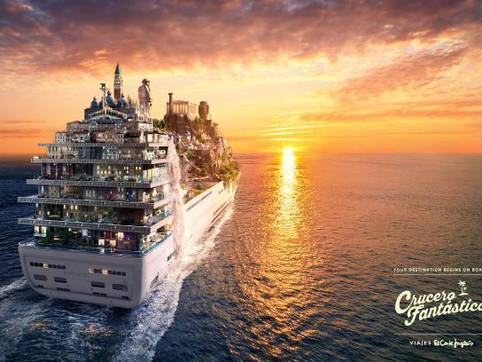 Viajes el Corte Ingles Print Ad - Fantastic Cruises, 1