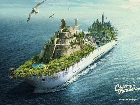 Viajes el Corte Ingles Print Ad - Fantastic Cruises, 2