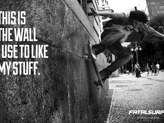 Fatal Surf Print Ad -  Wall