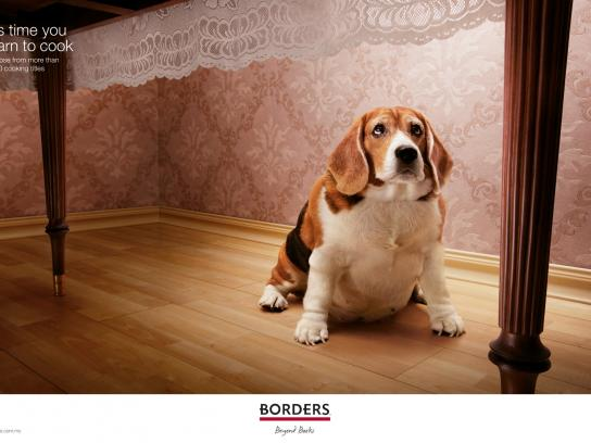 Borders Print Ad -  Fat dog