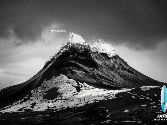FATUM Surfboards Print Ad -  Surfer's Everest, 1