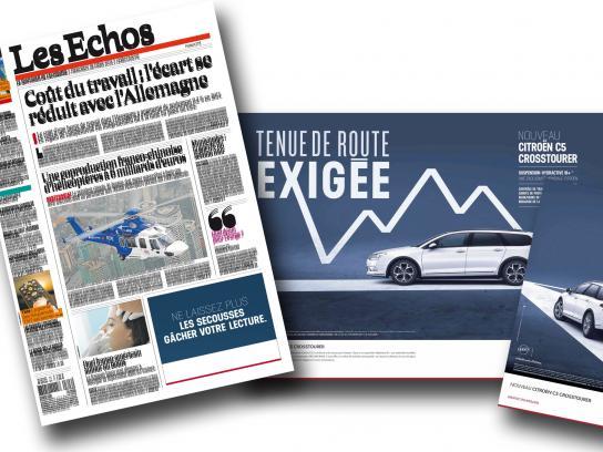 Citroën Print Ad -  Citroën shakes Les Echos