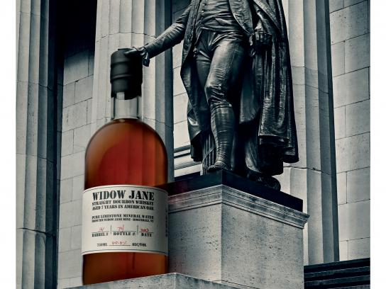 Widow Jane Outdoor Ad - New York's Kindred Spirit - Federal Hall