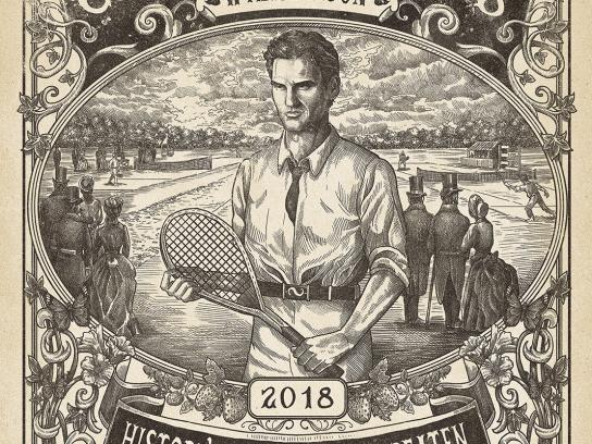 Wimbledon Outdoor Ad - History is There to be Beaten