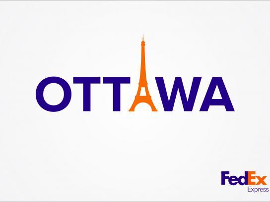 FedEx Print Ad -  Ottawa-Paris