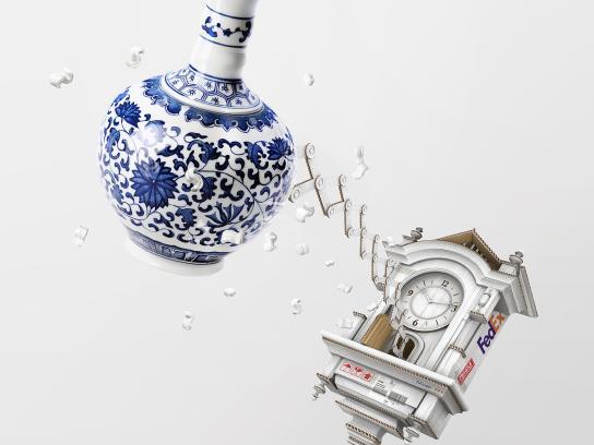 FedEx Print Ad -  Cuckoo - Vase