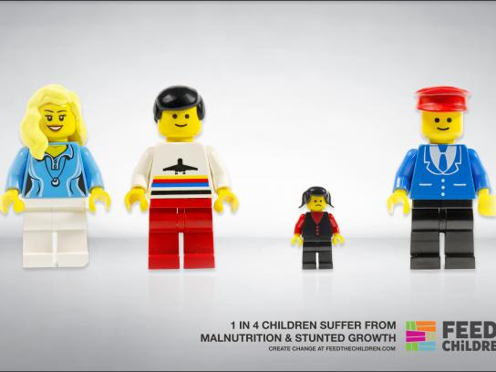 Feed the Children Print Ad - Legos