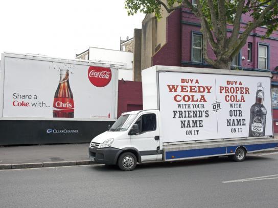 Curiosity Cola Outdoor Ad -  Name