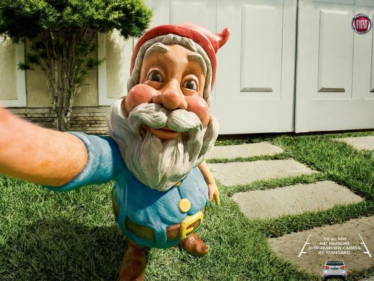 Fiat Print Ad -  Selfies - Gnome