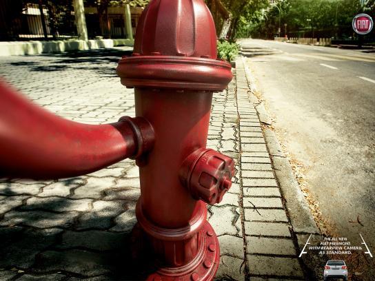 Fiat Print Ad -  Selfies - Hydrant