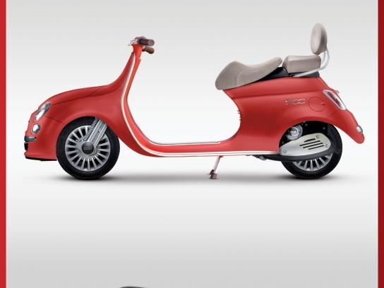 Fiat Print Ad -  Scooter