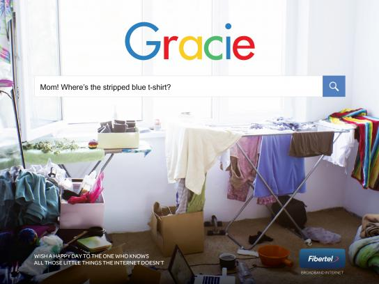 Fibertel Print Ad - Mom knows - Gracie