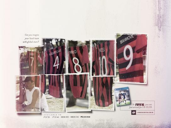 FIFA 16 Print Ad -  Messi