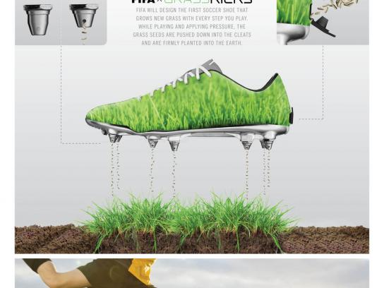 FIFA Direct Ad - The shoe that lets grass grow