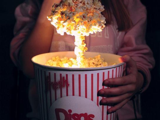 Disaster Movie Film Festival Outdoor Ad - Popcorn