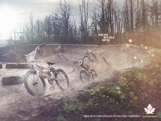 Cycling Canada Print Ad -  Hop on, 1