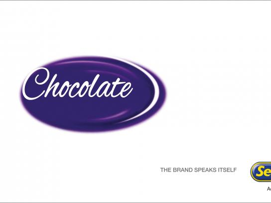 Sellotape Print Ad - Chocolate
