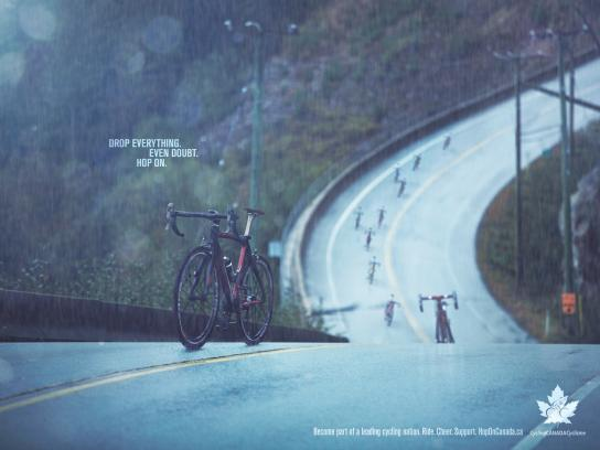 Cycling Canada Print Ad -  Hop on, 5