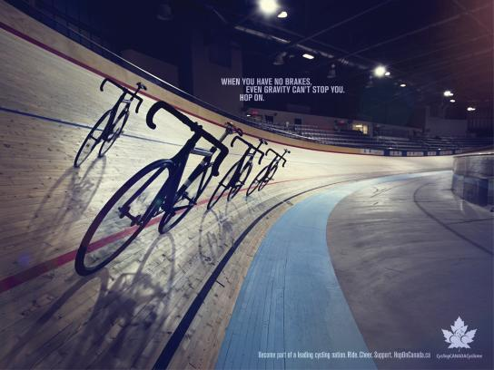Cycling Canada Print Ad -  Hop on, 6
