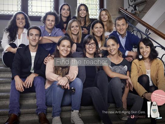 Nu Schweiz Print Ad -  Find the teacher, 1