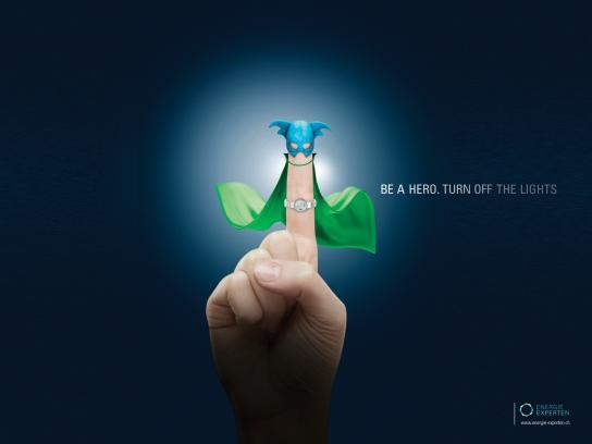 Energie Experten Print Ad -  Finger Hero