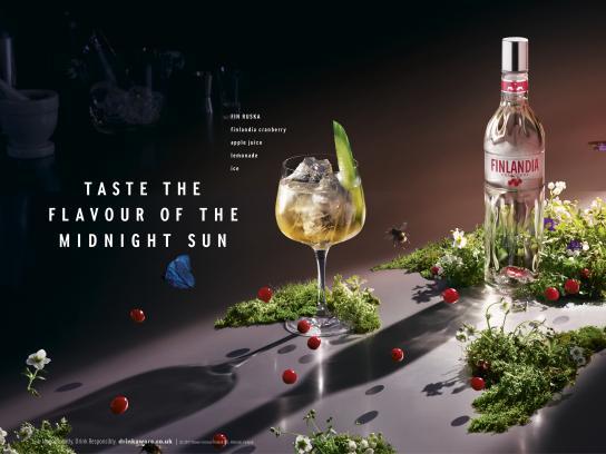 Finlandia Vodka Print Ad - Fin Ruska