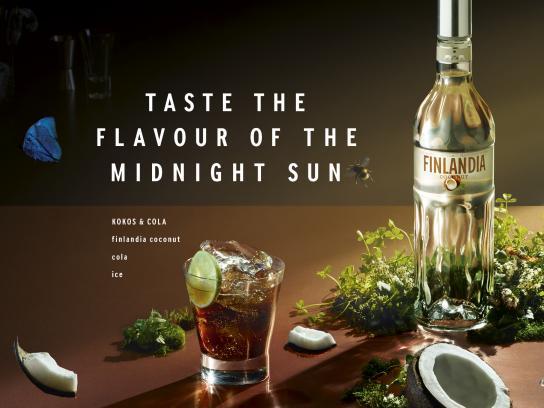 Finlandia Vodka Print Ad - Kokos & Cola