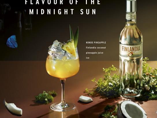 Finlandia Vodka Print Ad - Kokos Pineapple
