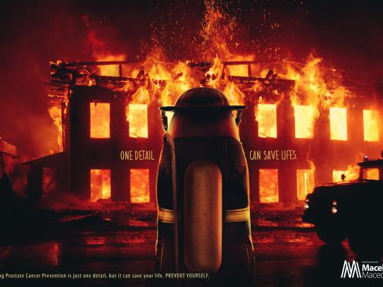 Doctor Macel Macedo Print Ad - Fireman