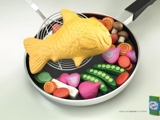 Clorox Print Ad -  Fish