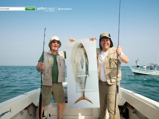 Getty Images Print Ad -  Finders, Fisherman