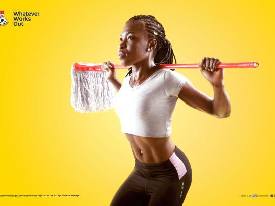 Three Crowns Milk Print Ad - Fitness Challenge, 1