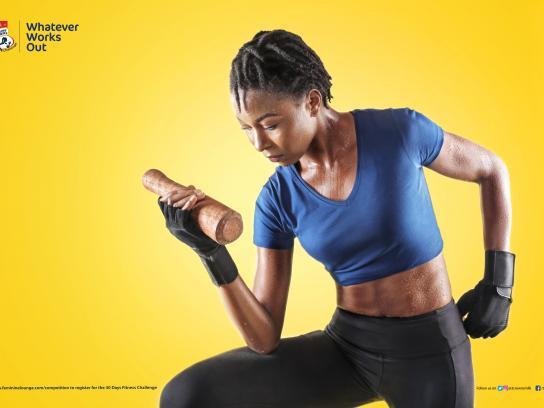 Three Crowns Milk Print Ad - Fitness Challenge, 2