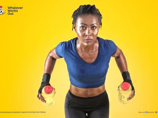Three Crowns Milk Print Ad - Fitness Challenge, 3