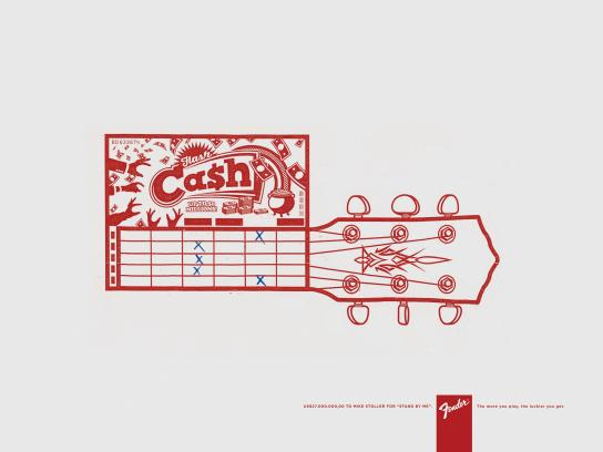 Fender Print Ad -  Lucky, 2
