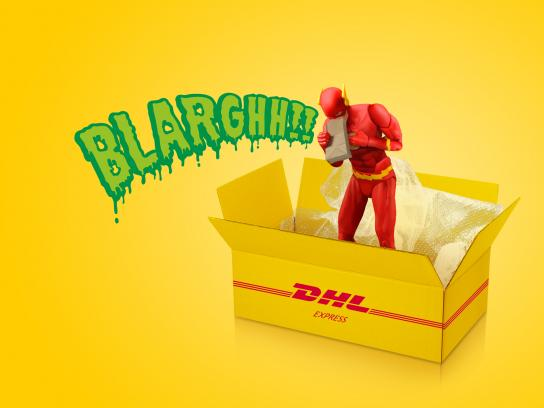 DHL Print Ad - Dizzy Flash Surpassed