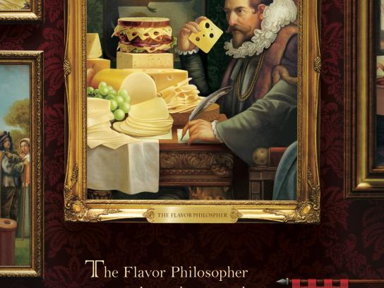 Finlandia Cheese Print Ad -  Where Cheese Reigns, Flavor Philosopher